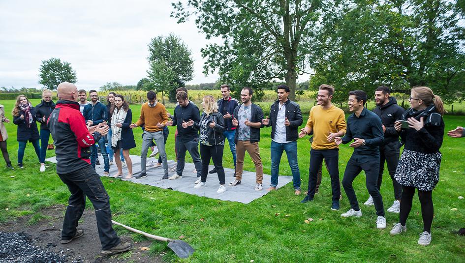 Topstarters in een groepsoefening