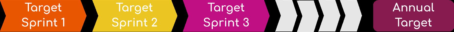 Overzicht doelstellingen sprints en jaardoelstelling